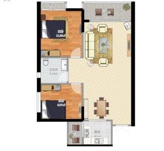 (南庄坪)中兴大厦2室2厅1卫89m²